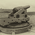 Vintage Cannon At Fort Moultrie by Dale Powell