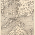 Vintage Cape Cod Old Colony Line Map  by CartographyAssociates