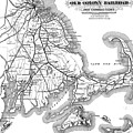 Vintage Cape Cod Old Colony Railroad Map by CartographyAssociates