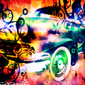 Vintage Car 1 Neons Edition by Ruahan Van Staden