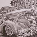 Vintage Car On The Street by Kgorometja Mokholoane
