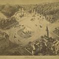 Vintage Central Park Entrance Illusration - 1865 by CartographyAssociates