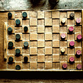 Vintage Checkers Board by M G Whittingham