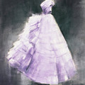 Vintage Chic Lavender And Gray by Beverly Brown