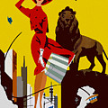Vintage Chicago Travel Poster by Joy McKenzie