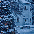 Vintage Christmas Church In Vermont by Jeff Folger