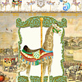 Vintage Circus Carousel - Giraffe by Audrey Jeanne Roberts