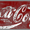 Coca Cola Red And White Sign Gray Border With Transparent Background by John Stephens