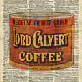 Vintage Coffee On Dictionary Page by Anna W