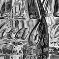 Vintage Coke Black And White by JC Findley