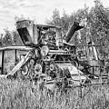 Vintage Combine Harvester by Theresa Tahara