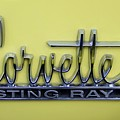 Vintage Corvette Sting Ray Emblem by Mary Deal