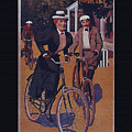 Vintage Cycle Poster March Davis Cycle 100 Dollars by R Muirhead Art
