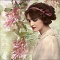 Vintage Debutante Lady  by Joy of Life Art Gallery