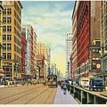 Vintage Detroit Woodward Avenue by Heidi De Leeuw