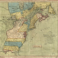 Vintage Discovery Map Of The Americas - 1771 by CartographyAssociates