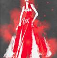 Vintage Dress Red Ball Gown - By Diana Van by Diana Van