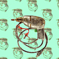 Vintage Drill Motor Green Trigger Pattern by YoPedro
