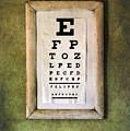 Vintage Eye Chart by Jill Battaglia