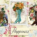 Vintage Fashion Victorian Boots by Joy of Life Arts Gallery
