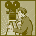 Vintage Film Camera Director by Aloysius Patrimonio