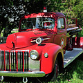 Vintage Fire Truck by Betty LaRue