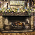 Vintage Fireplace by Thomas Woolworth