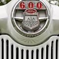 Vintage Ford 600 Nameplate Emblem by Edward Fielding