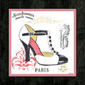 Vintage French Shoes 1 by Debbie DeWitt