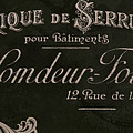 Vintage French Typography Sign by Mindy Sommers