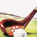 Vintage Golf Art - Circa 1920's by Marlene Watson