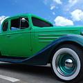 Vintage Green Roadster by Randy Cummings