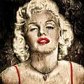 Vintage Grunge Goddess Marilyn Monroe  by Georgiana Romanovna