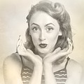 Vintage Hair Pin Up With Surprised Expression by Jorgo Photography - Wall Art Gallery