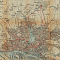 Vintage Hamburg Railway Map - 1910 by CartographyAssociates