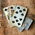 Vintage Hand Of Cards by Jill Battaglia