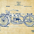 Vintage Harley-Davidson Motorcycle 1919 Patent Artwork by Nikki Smith