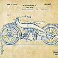 Vintage Harley-Davidson Motorcycle 1924 Patent Artwork by Nikki Smith