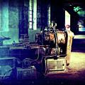 Vintage Industrial Blueprint by Phil Perkins