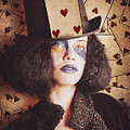 Vintage Jester Woman Wearing The Card Of Hearts by Jorgo Photography - Wall Art Gallery