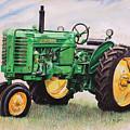 Vintage John Deere Tractor by Toni Grote