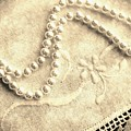 Vintage Lace And Pearls by Barbara Griffin