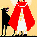 Vintage Little Red Riding Hood Poster by Mark E Tisdale