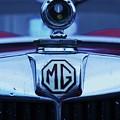 Vintage M G Emblem by Poet's Eye