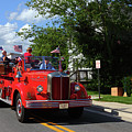 Vintage Mack Fire Truck At Independence Day Parade Catonsville by James Brunker