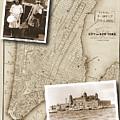 Vintage Map Ellis Island Immigrants by Karla Beatty