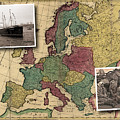 Vintage Map Europe Immigrants by Karla Beatty
