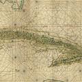 Vintage Map Of Cuba - 1639 by CartographyAssociates