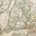 Vintage Map Of Finland - 1740s by CartographyAssociates