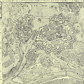 Vintage Map Of Geneva Switzerland - 1825 by CartographyAssociates